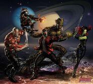 Guardians of the Galaxy Portrait Art