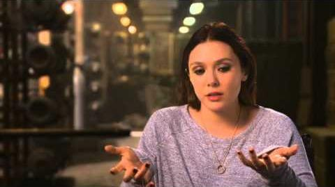 "Marvel's Avengers Age of Ultron Elizabeth Olsen ""Wanda Maximoff Scarlet Witch"" Interview"
