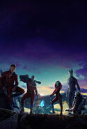 Guardians of the galaxy textless poster