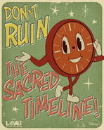 Don't Ruin The Sacred Timeline - Miss Minute Loki Poster