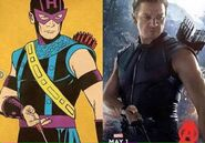 Hawkeye-comic comparison