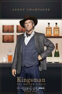 Kingsman The Golden Circle Champagne character UK poster 2