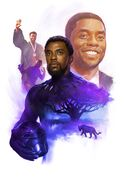 Chadwick Boseman Memorial Poster