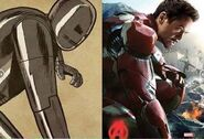 Iron Man-comic comparison