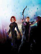 Black Widow Hawkeye promo-posterart