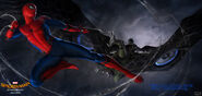 Spider-Man Homecoming Vulture Battle Concept Art
