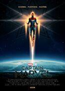 Captain Marvel Odeon Poster