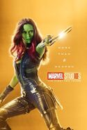 Gamora Marvel 10th Aniversary Poster More Than A Weapon