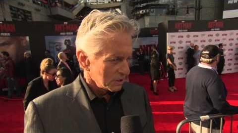 Marvel's Ant-Man Michael Douglas Red Carpet Movie Premiere Interview