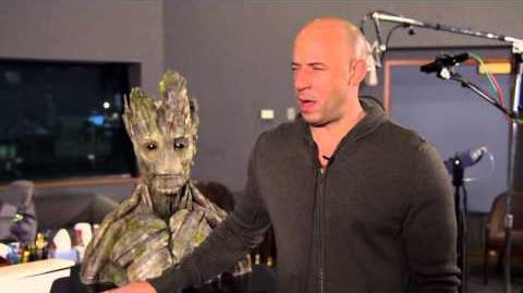 Marvel's Guardians of the Galaxy Vin Diesel Behind the Scenes Movie Interview