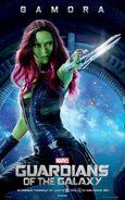 Gamora GOTG UK Poster