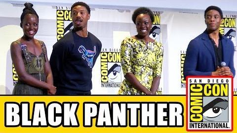 BLACK PANTHER Comic Con 2016 - Chadwick Boseman, Lupita Nyong'o, Michael B