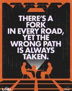 Fork in Everyroad - Loki Poster