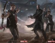 Avengers hawkeye & SHIELD