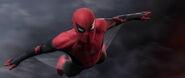 Spider-Man gliding