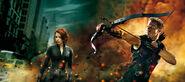 Black Widow and Hawkeye - Avenge