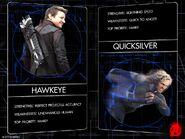 Two Avengers-Hawkeye-Quicksilver