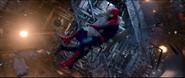 Spider-Man & Gwen crashing into the tower
