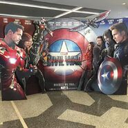 Captain America Civil War Standee