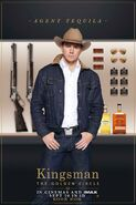 Kingsman The Golden Circle Tequila character UK poster 2