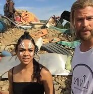 Thor Ragnarok Filming Tessa and Chris (1)