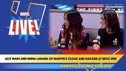 Ally Maki and Emma Lahana of Marvel's Cloak and Dagger at SDCC 2018