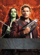 GOTG2 TradCard Star-Lord Gamora Lg