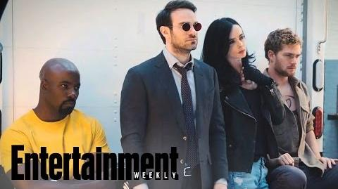 The Defenders First Look At Marvel Mashup Cover Shoot Entertainment Weekly