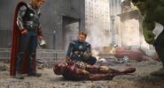Thor, iron man, cap and hulk
