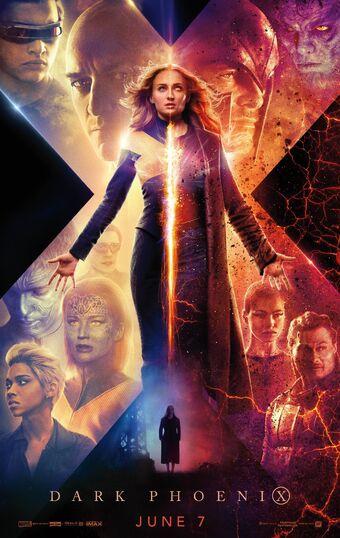 Marvel Men/'s X-Men Phoenix Black Queen T-Shirt