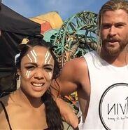 Thor Ragnarok Filming Tessa and Chris (3)