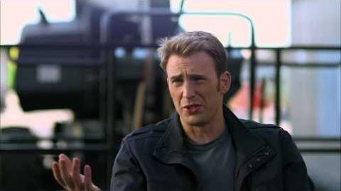 """Captain America The Winter Soldier Chris Evans """"Steve Rogers"""" Official On Set Interview"""