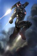 Captain America Civil War War Machine Concept Art