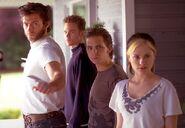 Bobby, Logan, Pyro, and Marie