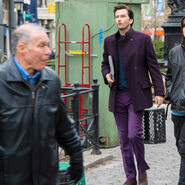David Tennant Purple Man AKA Jessica Jones Filming