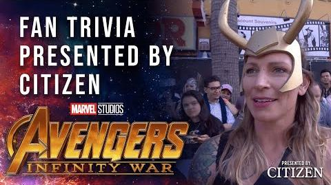 Fan Character Trivia Challenge at the Avengers Infinity War Premiere