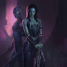 Gamora and Nebula Gotg Concept Art.jpg