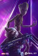 Avengers Infinity War Rocket-Groot Poster