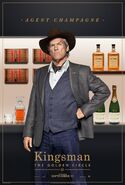 Kingsman The Golden Circle Champagne character poster 2
