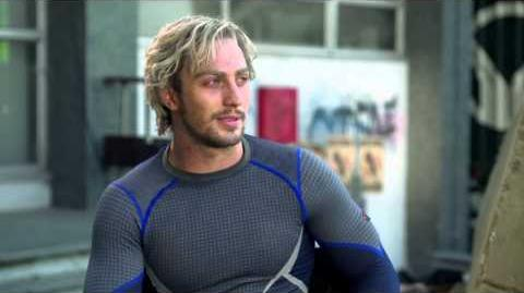 "Marvel's Avengers Age of Ultron Aaron Taylor-Johnson ""Pietro Maximoff Quicksilver"" Interview"