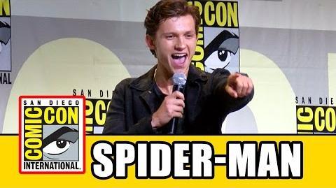 SPIDER-MAN HOMECOMING Comic Con 2016 - Tom Holland, Zendaya, Laura Harrier, Tony Revolori, Jon Watts