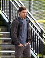 Tom-holland-snaps-a-selfie-while-filming-spide-man-homecoming-09