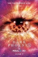 Dark Phoenix Real 3D Poster