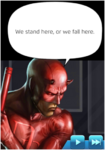Dialogue Daredevil (Man Without Fear)