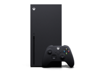Front of the Xbox Series X and the Wireless Controller