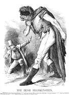 Punch Anti-Irish propaganda (1882) Irish Frankenstein2