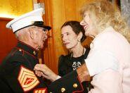 Swit with marine vet