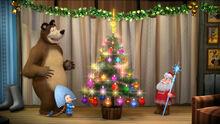 03 Дед Мороз, Маша и Медведь
