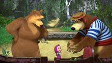 54 Медведь, Медведица и Маша