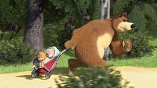 18 Маша Медведь и Розочка 2